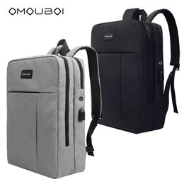 Wholesale port fashion - Waterproof Lightweight School Backpack Fashion Style Durable School Bag With USB Charging Port Fits 15.6 Inch Laptop Computer By OMOUBOI