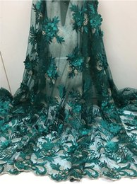 Новые Швейные Кружева Цветок Африканский Кружевной Ткани DIY Женская Мода Высокого Качества Тюль Кружевное Платье Конструкции женщин Свадебные Платья Партии FCL1826 от