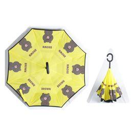 Wholesale dream machine - Double-decker car umbrella handle free new cartoon reverse Umbrella machine cat Dodo a dream kt cat rabbit Blanchon
