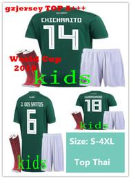 Argentina 2018 World Cup Mexico kit para niños + Calcetines de fútbol Jerseys CHICHARITO LOZANO MARQUEZ CHUCKY DOS SANTOS Camisa de fútbol Thailand camisetas de futbol Suministro