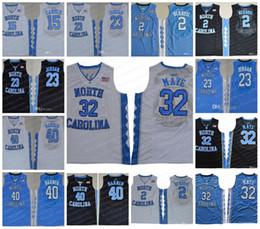 Wholesale berry men - NCAA North Carolina Tar Heels #32 Luke Maye 2 Joel Berry II 15 Carter 23 Michael 40 Barnes UNC blue black white Jerseys