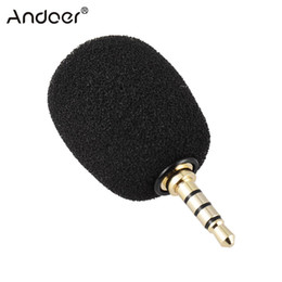 Wholesale Phone Recorder Iphone - Andoer EY-620A Mobile Phone Portable Mini Omni-Directional Mic Microphone for Recorder for iPhone Samsung Huawei Xiaomi