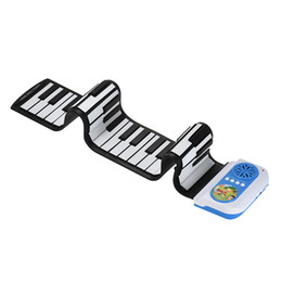 Wholesale Rolling Piano Keyboard - Professional 49 Keys Silicon Flexible Hand Roll Up Piano Portable Electronic Keyboard Organ Musical Instrument Gift for Children