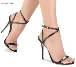 86e72abf0e604 2018 fashion women open toe sandals black high heels party shoes glitter  gladiator sandals dress shoe sexy diamond sandals