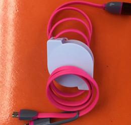 Cabo de sincronização do iphone a cores on-line-Retrátil 2 em 1 usb cabo multi-função de carregamento de dados cabo de sincronização dual color fio plano para samsung iphone smartphone cabo de escalonamento