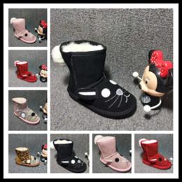 bottes de neige de la jeunesse Promotion Bottes de neige ourdoor ou Indoor Kids pour enfants pour enfants Authentique chaussures chaudes pour garçons et filles australie hiver unisexe hiver EUR 25-32