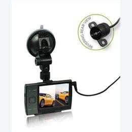 Wholesale D1 Dvr - Car DVR Dash Cam With 110 Degree HD720P 3.5 Inch Screen Car Dash Cam Dvr Camera With Reversing Rear View 1 4 D1 CMOS