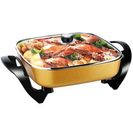Wholesale Stove Plates - FEIRSH Barbecue Pan Electric Hotpot Barbecue Plate Multi Functional Electric Cooking Stove Electric Fryer Frying Pan Fry Hot sell
