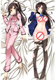 150x50 Anime otaku Accel World Kuroyuki hime Dakimakura Hugging Body Pillow case