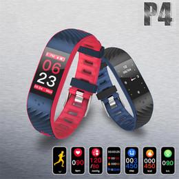 pulseiras coloridas Desconto Tela de toque colorido smartband heart rate pressão arterial pulseira melhor do que miband2 para xiaomi smart pulseira android ios banda p4 hot