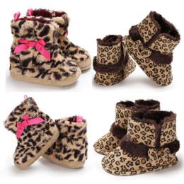 653181f62468 2018 Infant Baby Girl Boy Bowknot Cuna Lepoard Botas de Nieve Niño  Sandalias de Invierno Cálido Zapatos 0-18 M