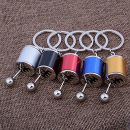 cilindro de llave Rebajas Nuevo coche de la llegada modificado llaveros aleación de zinc Gear Shift Stick Key Holder Cylinder Wave Motor Key Protector para hombres SP0774