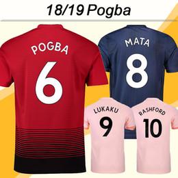 melhores uniformes de futebol da tailândia Desconto 2018 19 POGBA ALEXIS  Jersey de Futebol LUKAKU MATA 8746b89a29fe6