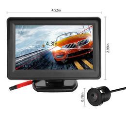 4,3-дюймовый система парковки HD автомобиля зеркало заднего вида монитор с 170 градусов заднего вида парковки резервного копирования камеры комплект водонепроницаемый от
