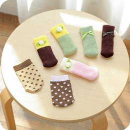 Wholesale Table Leg Foot - Fashion table foot cover reduce friction noise delicate table chair foot leg knit set protect the floor