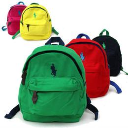 Wholesale Kids Pocket Dress - Famous Brand Polo Backpacks For Teenage Girls Boys High Quality Canvas School Bags Small Backpacks Harness Backpack Kids Mini