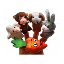 Wholesale Fairy Stories - 5   Pcs World fairy tale Pull the radish story Safe plush finger doll Baby children's toys Mother paternity early education