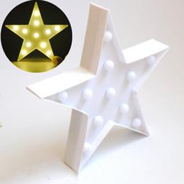 Estrela decorativa da luz de natal on-line-Hot new star design de Natal Decorativo luz Da Noite Bateria operado lâmpada de parede Luzes de Fada fontes do partido de iluminação interior