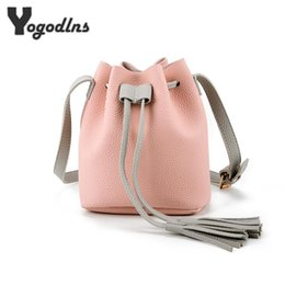 Wholesale Cheap Leather Crossbody Bags - PU Leather Handbag Cheap Crossbody Handbags Organizer Small Cute Bucket Bag Messenger Women Feminina Bags Bolsos