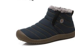 Wholesale Waterproof Snow Boots Wholesale - New Fashion Men Winter Shoes Solid Color Snow Boots Plush Inside Antiskid Bottom Keep Warm Waterproof Ski Boots Size 35 - 48