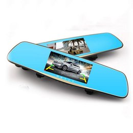 Wholesale Parking Camera Rearview Mirror - 5.0' Car DVR Camera Dash Cam 1080P Full HD Night Vision Video Recorder 170 Degree Wide Angle Parking Monitor