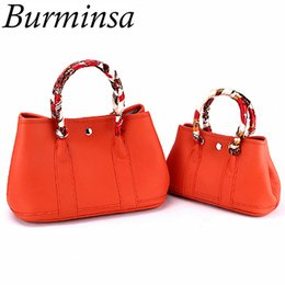 Burminsa Genuine Leather Bags Women  Garden Party Tote Designer Handbags High Quality Female Shoulder Crossbody Bags 2018 от
