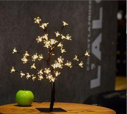 26.8Inch 96leds Cristal Led Cherry Blossom Bureau Top Bonsaï Arbre Lumière Noir Branches pour la Fête À Domicile De Mariage De Noël Décor Extérieur Intérieur ? partir de fabricateur