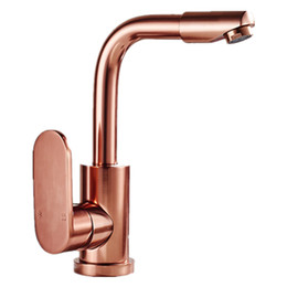 Wholesale Gold Sink Mixer - DONYUMMYJO Deck mounted Space Aluminum rose gold basin mixer tap with single handle rose kitchen sink faucets