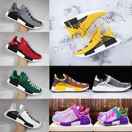 Wholesale Ink Cheap - Cheap 2018 Human Race Pharrell Williams Hu trail NERD Men Women Running Shoes noble ink core Black Red sports Shoes eur36-45