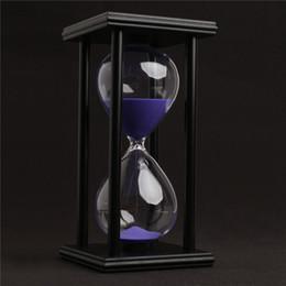 60 Minutes Horloge De Sable Sablier Compte À rebours Minuterie Moderne En Bois Sablier À La Maison Décoration cadeaux arts et artisanat ? partir de fabricateur