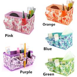 2019 koreanische faltbare tasche Organizer Box Make-up Veranstalter kosmetische Aufbewahrungsbox Frauen Tasche faltbare stationäre Container Make-up Organizer Uhrenbox Korb günstig koreanische faltbare tasche