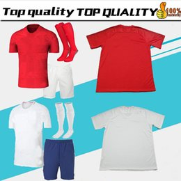 Wholesale England Home Jersey - adult kit 2018 england soccer Jersey World Cup ROONEY home KANE STURRIDGE STERLING dele 18 19 england away red men football shirts