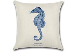 "Wholesale Kids Pillow Cases - hot sale Throw pillow cases shell hold pillow case sea horse cushion high quality customized for kids  home car decoration 18"" x 18""inches"