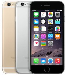 Wholesale iphone dual - Original Apple iPhone 6 16GB 64GB 128GB 4.7 inch A8 IOS 8.0 4G FDD Refurbished Phones