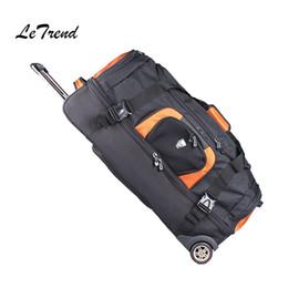 Borsa a tracolla arancione online-Commercio all'ingrosso 27/32 pollici di grande capacità borsa da viaggio valigie valigie Ruote bagaglio a tracolla arancione zaino da uomo
