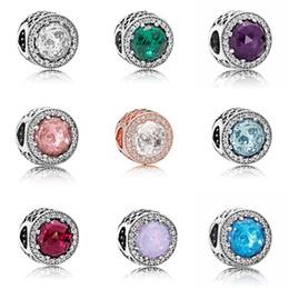 bracciali diy Sconti Opali di alta qualità 10 colori accessori europei Perle Scatola originale per Pandora 925 Sterling Silver Charms Bracciale gioielli fai da te