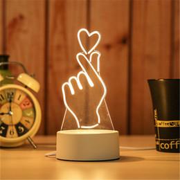 décorations de mariage de citrouilles blanches Promotion 3D petite lampe de bureau cadeau lampe USB tactile télécommande originalité confortable lampe de chevet nouveau modèle grande roue petite lumière de nuit DHL gratuitement