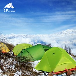 2019 сверхлегкие палатки для альпинизма 3F UL GEAR PiaoYun1 Series 1 Person 3 Season 15D Camping Tent Outdoor Ultralight Backpacking Hunting Waterproof Tents дешево сверхлегкие палатки для альпинизма