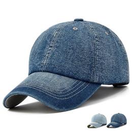 Jeans ebene online-Nützliche Baseballmütze Männer Frauen Golf Hüte für Frauen Visier Knochen Jeans Denim Blank Gorras Casquette Plain Cap