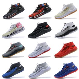 reputable site 32f33 bc08a Mens Dame 4 Basketball Shoes Sneakers Man 2018 Top Grey Camp Static Rose  City Lillard 4s IV Ultra Zapatillas Trainers Sports Shoes 7-12 dame 4 for  sale