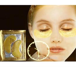 2019 pilaten pore strip en gros Gel soin des yeux beauté du visage au collagène doré masque pour les yeux / masque pour les yeux 24 K Collagène au cristal Soins de la peau en cristal anti-âge hydratant et éclaircissant