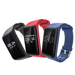 Wholesale Waterproof Watch 24 Hours - Smart Bracelet Watch K1 24 Hours Real-time Heart Rate monitor Fitness Watch IP68 Waterproof Sports Bluetooth Tracker Wristband Cheap 30pcs