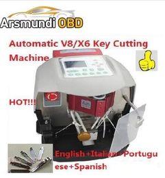 Wholesale volvo car warranty - 2018 New Automatic V8X6 Key Cutting Machine X6 Car Key Maker V8Auto Key Programmer Better than slica Miracle A7 3 Years Warranty