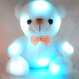 bambole di massaggio Sconti LED peluche orsacchiotto farcito peluche bambole bianche 20-22 cm regalo orso per bambini regalo di Natale peluche farcito