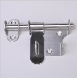 Wholesale Stainless Steel Doors - Stainless Steel Security Door Bolts Turn Left or Right with Lock Bolts Lock Door Security Door Lever Action Latch KKA4195