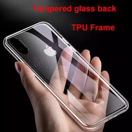 blackberry классический телефон Скидка Закаленное стекло обратно прозрачный чехол для iPhone X XR XS XS Max i7 i8 плюс ТПУ рамка задняя крышка защитная нет царапин не пожелтение