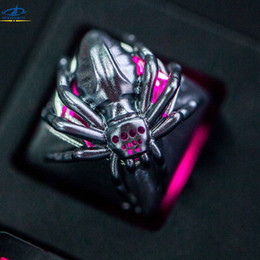 Wholesale Mechanical Spider - HFSECURITY ZOMO OEM Spider Metal Keycaps For Mechanical Keyboards Backlit Keycap Keypress For Cherry MX Gaming Keyboards