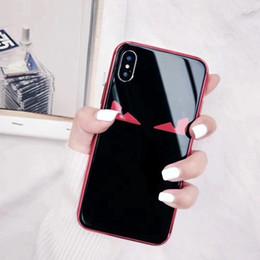Olhos do telefone on-line-Yunrt marca de luxo lafayette olhos bonitos demônios capa case para iphone 6 6s plus 7 7 plus 8 8 plus x espelho chapeamento de vidro casos de telefone coque