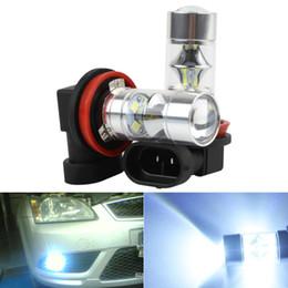 Discount smd led car auto - High Quality fog light bulb 2pcs! Super White H8 H11 60W Auto Car Fog Light Bulb Driving Lamp 12-SMD 2323 LED DRL