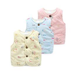 Wholesale Wholesale Waistcoats - Newborn Baby Winter Cotton Vest Boy Girl Thicken Soft Vest Children Clothes